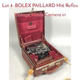 Lot 4 BOLEX PAILLARD H16 Reflex Vintage Movie Camera in