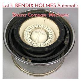 Lot 5 BENDIX HOLMES Automatic Steerer Compass. Mechanic
