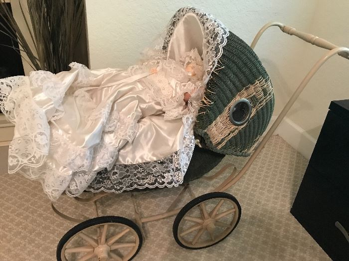 Antique Baby Carriage, excellent condition - Antique doll sold separately