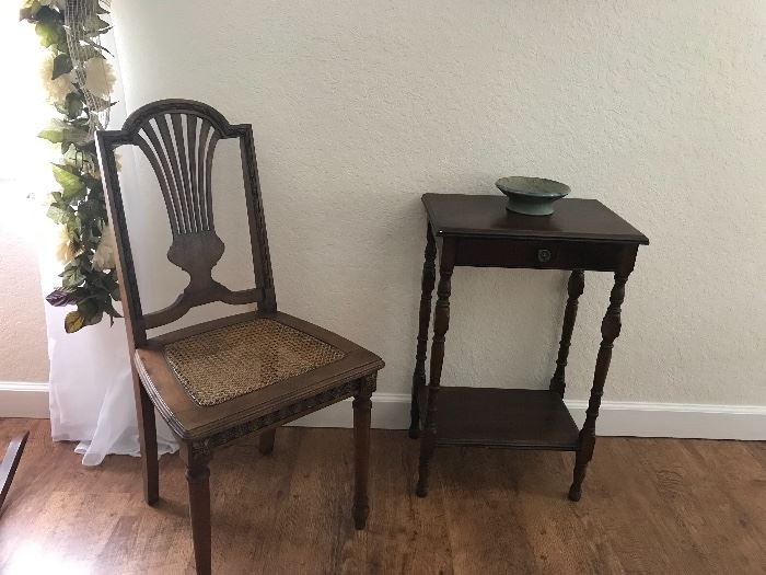 Antique chair matches the Rocking chair
