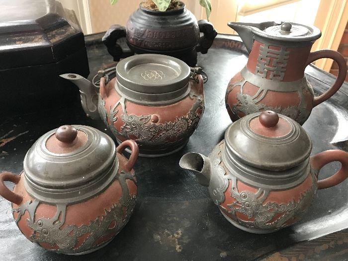 Antique Asian-style tea set