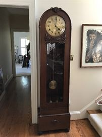 """Antique clock, approximately 6'6"""""""