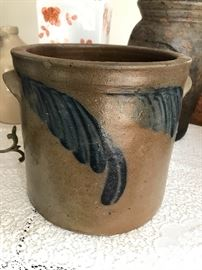 Old salt glaze pottery