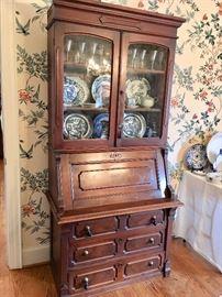 Antique drop-front secretary desk