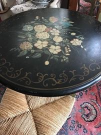 Floral tilt-top table