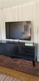 """60"""" Visio Flat Screen TV with Blue Ray Player, Surround Sound & Cabinet"""