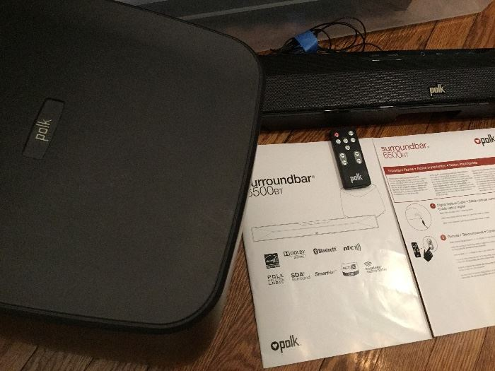 Polk Surroundbar with subwoofer and remote $385