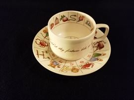 Royal Kendal English Fortune Teller Teacup and Saucer