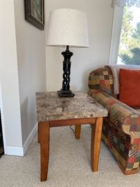 Matching granite top end tables