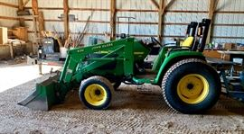 John Deere 430 Tractor - selling all attachments seperately