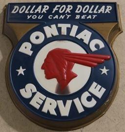 Vintage Pontiac Dollar for Dollar advertising sign