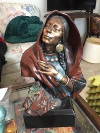 Cast Bronze Navajo Sculpture, signed limited edition
