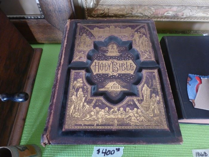 1886 The Parallel Bible in good condition.