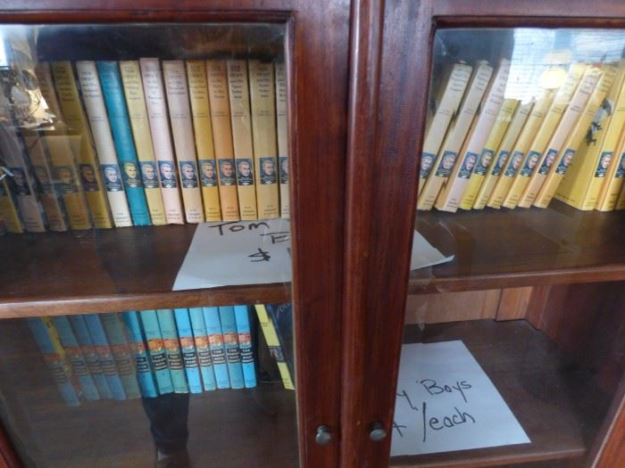 Tom Swift and Hardy Boys books.