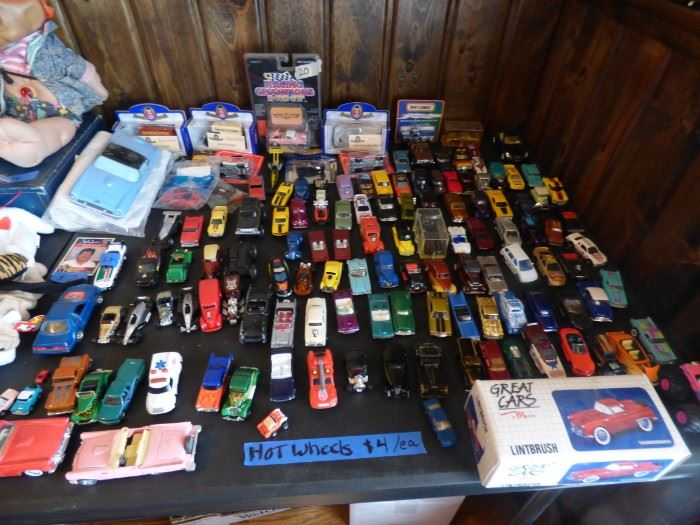 Lots and lots of Hot Wheels and Matchbox cars.
