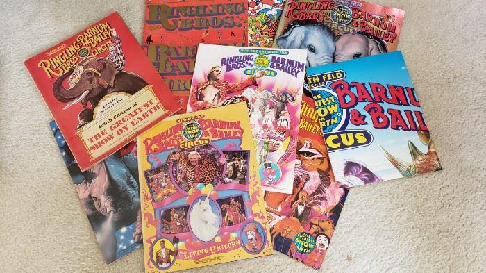 Vintage brochures..Barnum & Bailey....plus more