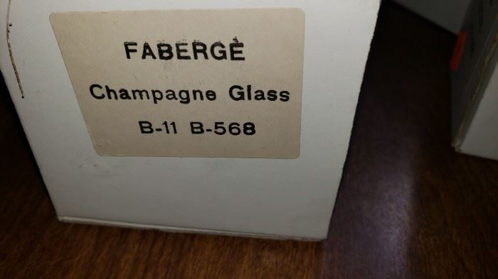 Faberge Champagne Glasses set 12