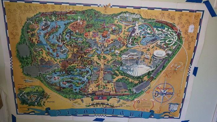 1966 Walt Disney map