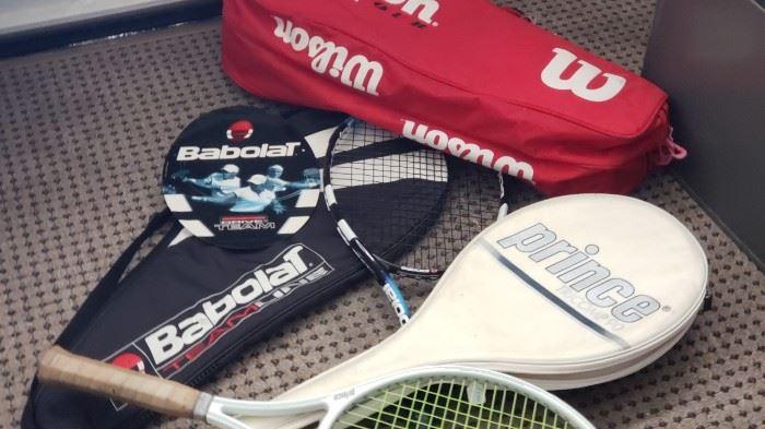 Fine tennis rackets