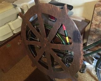The ship's wheel from 1960s Traverse City Cherry Festival Peter Pan float!