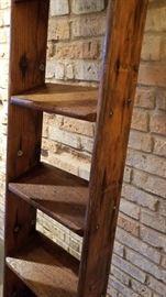 Antique Oak Library Ladder Rungs