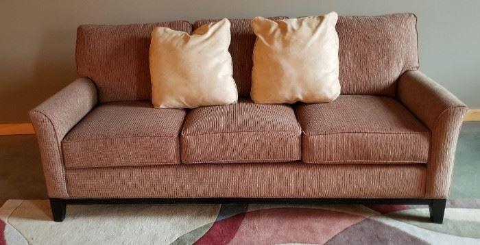 Broyhill 3 Cushion Couch Sofa