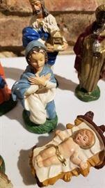Chalkware Nativity Baby Jesus