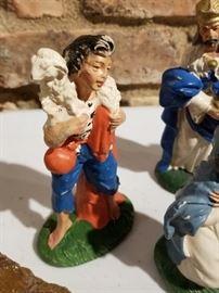 Chalkware Nativity Shepherd