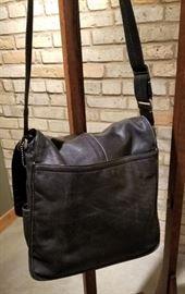 Coach Black Leather Messenger Bag A Back