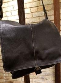 Coach Black Leather Messenger Bag A Front