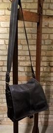 Coach Black Leather Messenger Bag A