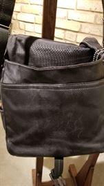 Coach Black Leather Messenger Bag B Interior
