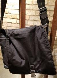 Coach Black Leather Messenger Bag B Flap