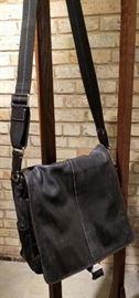 Coach Black Leather Messenger Bag B