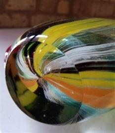 David Tiffany Art Glass Vase Base