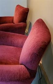 Flexsteel Burgundy Arm Chair Back
