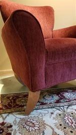 Flexsteel Burgundy Arm Chair Foot