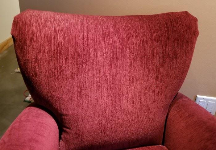 Flexsteel Burgundy Arm Chair Pair Top