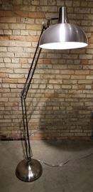 Floor Lamp Brushed Aluminum Lit