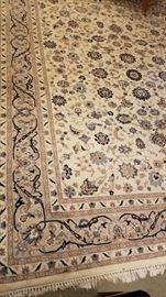 Ivory Wool Area Rug Design