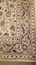 Ivory Wool Area Rug Edge Design