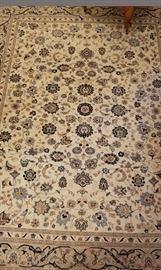 Ivory Wool Area Rug
