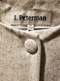 J Peterman Gray Tunic label
