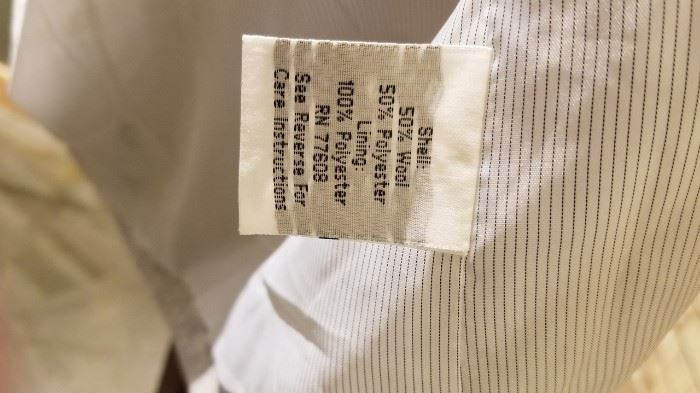 J Peterman Gray Tunic Content Label