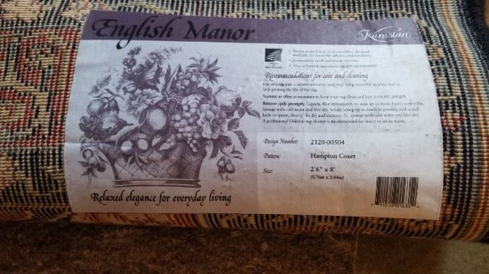 Karistan English Manor Rug Label