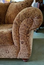 Klaussner Couch Rolled Arm