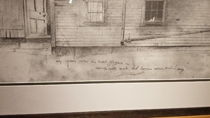 Olsons Farmstead Brandywine River Musuem Print Detail