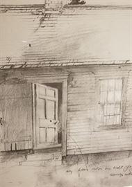 Olsons Farmstead Brandywine River Musuem Print Door