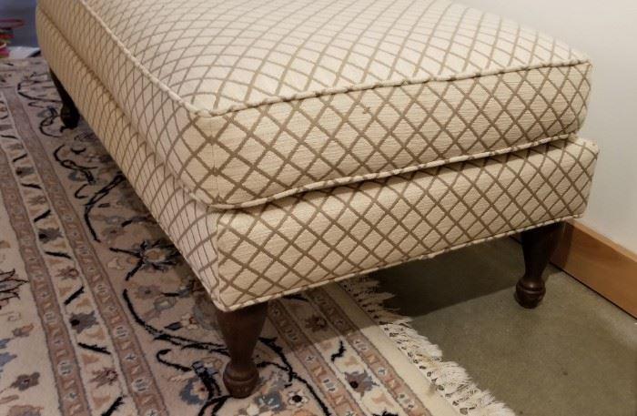 Ottoman Cream and Taupe Diamond Pattern
