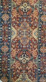 Persian Wool Runner Center Detail